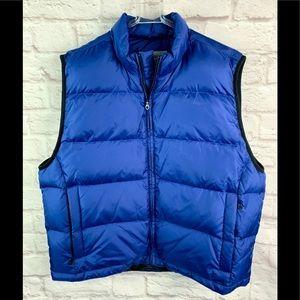 Eddie Bauer down vest blue L Like NEW